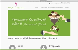 KVM - Recruitment website design by Toolkit Websites, professional web designers