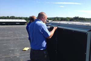 Installation to a Trane Roof Top