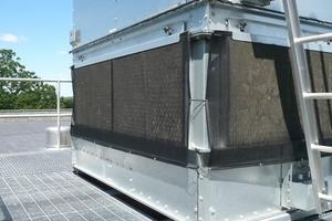 Evapco cooling tower air intake screen protection