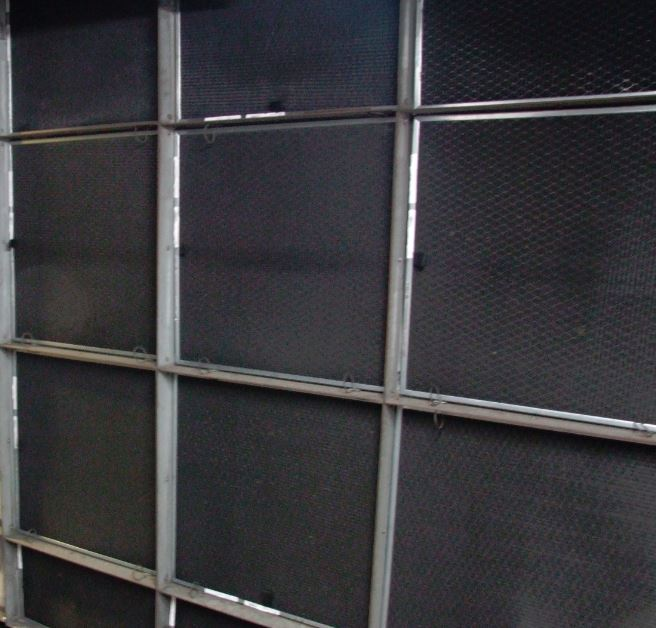 AHU intake with R2 filter screens