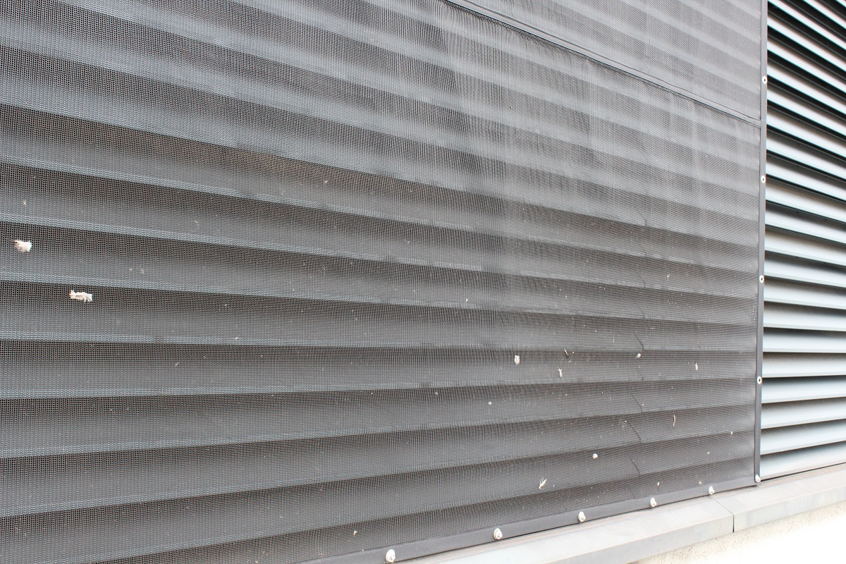 air intake screen to external louvre. RABScreen