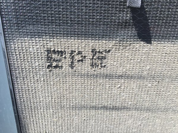 Filter screen graffiti from Emerald Power and Energy