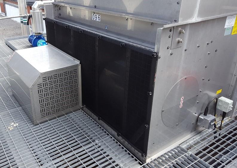 Evapco cooling tower air intake dust filters
