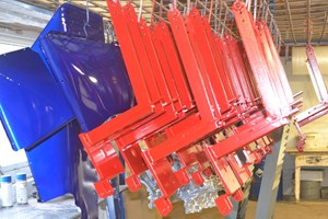 Side Supports Powder Coated Red Ral 3001