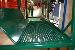 Gangway Powder Coated Green Ral 6005