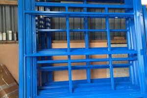 EV Shelter Powder Coated Blue