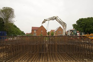 Construction Site with groundworking foundations