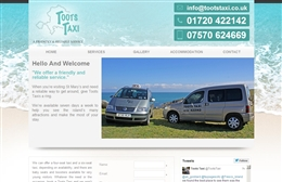 Toots - Taxi website design by Toolkit Websites, Southampton