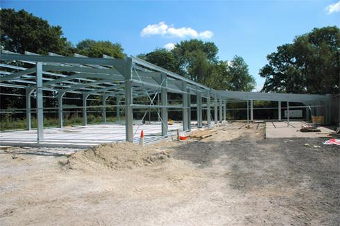 Galvanised Steel Building erection