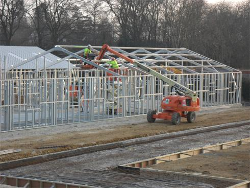 Commercial building steelwork
