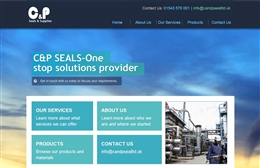 CP Seals - Engineering website design by Toolkit Websites, Southampton