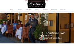 Freddie's Restaurant - Mediterranean restaurant web design by Toolkit Websites, Southampton