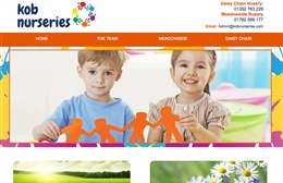 Kob Nurseries - website designers in Southampton