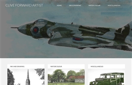 Clive Forward - Artist website design by Toolkit Websites, expert web designers