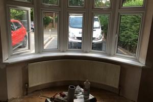 New window board fitted to bay window in Brimsdown