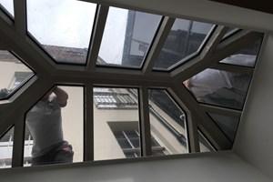 Sky light water leak repair in London