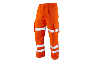 Railway approved orange cargo trousers