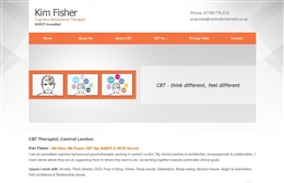 Web design case study for Kim Fisher, Central London CBT