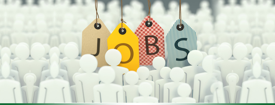 Image of labels spelling out jobs