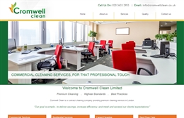 Cromwell Clean - Cleaning website design by Toolkit Websites, professional web designers