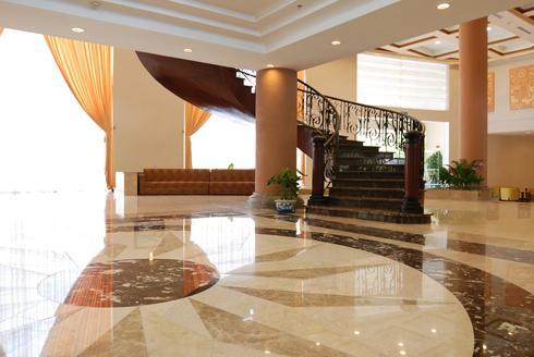 Marble floor hallway