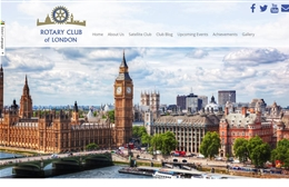 Website design case study for The Rotary Club of London