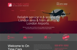 On Time Cars - Taxi website design by Toolkit Websites, Southampton