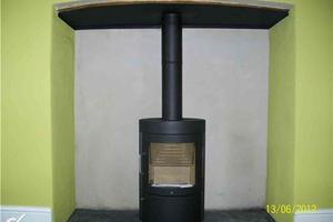 Installation of a Hwam Stove in Winchester area.