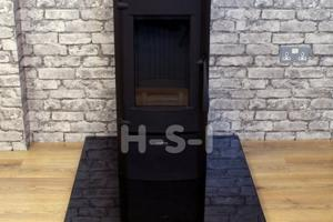 We can supply hearths, pictured is a highly polished smooth granite hearth - please call to discuss options.