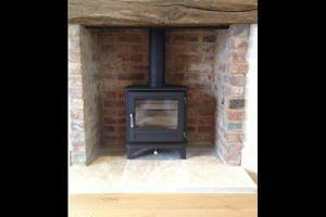 Installation of a Chesney Salisbury stove in Petersfield, Hampshire.