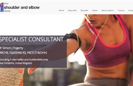 Shoulder and Elbow Clinic, Simon Fogerty - web design by Toolkit Websites, Southampton