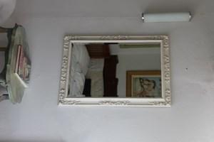 Floral Gessoed Mirror  £425  Size 60 x 100cms
