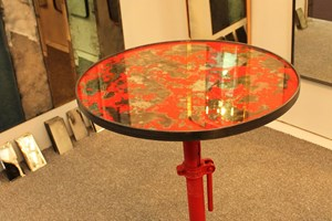 Occasional Table with mirrored top [any colour]