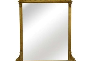 A very handsome and imposing overmantel mirror,  although it can be used in a wide variety of situations.                                                 Widcombe Mirror £1,300.00   The Widcombe is a very imposing mirror taken directly from an 19th century originial. It sits perfectly above a fireplace and this mirror is fitted with a bevelled edge mirror plate.  Height 57' x 40' only.