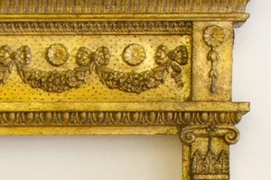 This is a detail from the Widcombe mirror. It can be gilded using silver leaf or gold leaf.[see 'finishes page]   £1300.00Size 144x100cms[57'x40'] only.