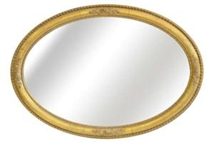 The Rosebud Oval Mirror £320..  This generously proportioned oval mirror frame can be hung either portrait or landscape.  The centre of the frame can be hand gilded or with a paint finish to match any existing colour scheme  size only, 71cms x 104cms, [28' x 41']