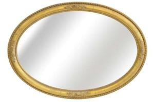 """The Rosebud Oval Mirror £320.00  This generously proportioned oval mirror frame can be hung either portrait or landscape.  The centre of the frame can be hand gilded or with a paint finish to match any existing colour scheme  As pictured Width 28""""  Height 41"""""""