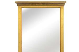 The Simple Pier Mirror £290.00  A very simple yet elegant pier mirror which looks particularly attractive in halls, passageways etc.  Can also be made in a landscape format as an overmantel mirror.  Example size Width 60cm x90cm high,(24 x 36')