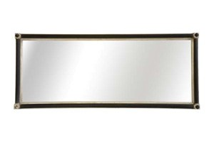 The Bristol Mirror £460.00  A very simple but elegant hand leaf gilded mirror, which looks particularly good when fitted with  black reeded columns and antique silver slip frame  The corner blocks can be gilded to match the rest of the frame or omitted altogether.  Can be gilded in either Gold or Silver leaf or painted the colour of your choosing.  Example size 60cm x 122cm, (24' x 48')
