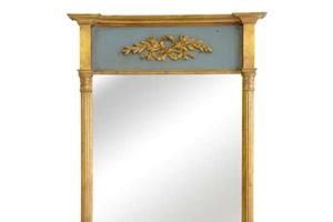 """The Hereford Pier £950.00  The Hereford is our latest pier design, It can be gilded silver or gold as well as a variety of different paint finishes.  The top panel can either be fitted with a mirror as shown above or with a picture of your choosing.  Example size  48"""" x 29"""" Can be made to any size"""