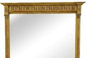 New York Fern Mirror £880.00   A delicate columned pier mirror with Corinthian capitals and a fern frieze.  This design also can be made in a landscape format for use as an overmantel mirror.  The top panel can be painted to suit any decor   Height 48'  Base width 36'