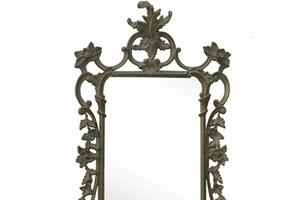 """Chippendale Mirror £480.00  A faithful copy of an 18th century Chippendale chinoiserie design, This can look stunning when hung as a pair over two matching tables.  Can be finished in either gold or silver or a paint finish of your choosing.  Size 22"""" x 44"""""""