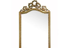 Double Bow Pier '89cms x38cms, (35' x 15')   A beautifully proportioned small occasional mirror would enhance any drawing room, dressing room or hallway.   £230   Can be finished in either gold or silver or a paint finish of your choosing.