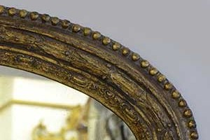 Dark Antique  This is an example of a dark antique gold finish on our Laurel Leaf overmantel.
