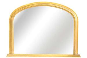Rutland overmantel mirror. This mirror is ideally suited for the smaller fireplace or over a piece of furniture.  £380  size 41'x 31'  [103x 78cms]