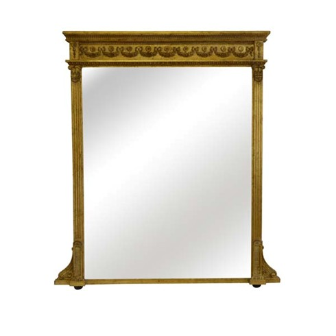 Widcombe Mirror<br/><br/>£1,300.00<br/><br/>This is a very handsome and imposing mirror taken directly from an 19th century original in our possession.<br/><br/>Can be hand finished in either gold or silver leaf, or with a paint to match your decor. <br/><br/>One size available: Height 57' x 40' (145 x 101cm)