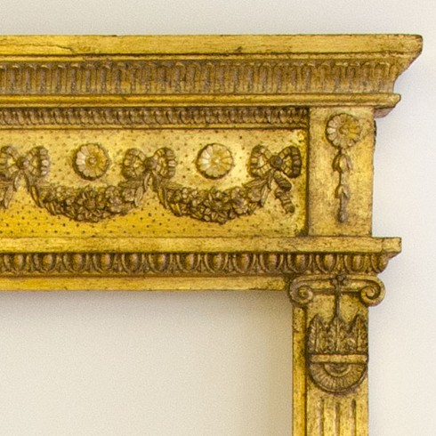 Close up corner from The Widcombe Overmantel.<br/><br/>See finishes page for alternative frame finishes.