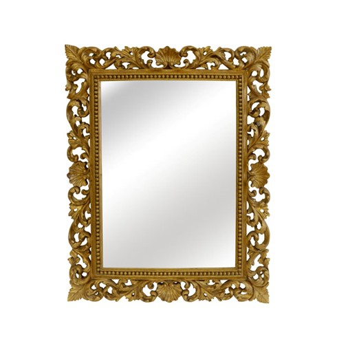 Florentine Mirror<BR>£660.00<BR><BR>This is a very pretty mirror which would suit most situations and surroundings. This mirror can be gilded either gold or silver or a paint finish.<BR><BR>width 40' x height 49'