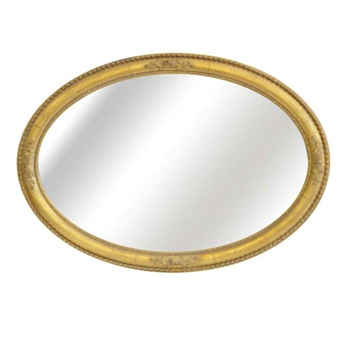 """The Rosebud Oval Mirror<br/><br/>£440.00<br/><br/>This generously proportioned oval mirror frame can be hung either portrait or landscape.<br/><br/>The centre of the frame can be hand gilded or finished with a paint colour finish to match any existing colour scheme.<br/><br/>Example size: Width 28"""" Height 41"""""""