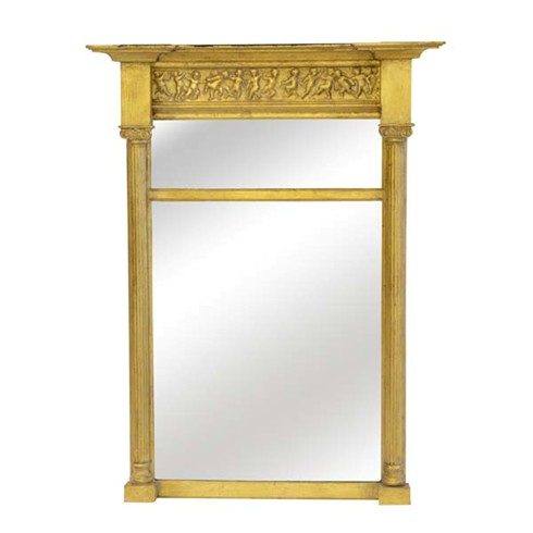 "Canterbury Pier<BR>£350.00<BR><BR>Our Canterbury Pier features a  delicate columned mirror with ionic capitals and a delightful cherub frieze.<BR><BR>Size 14"" x 24"" only"